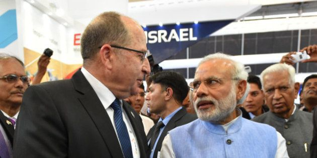 BANGALORE, INDIA - FEBRUARY 18: (ISRAEL OUT) In this handout provided by the Israeli Ministry of Defence,...