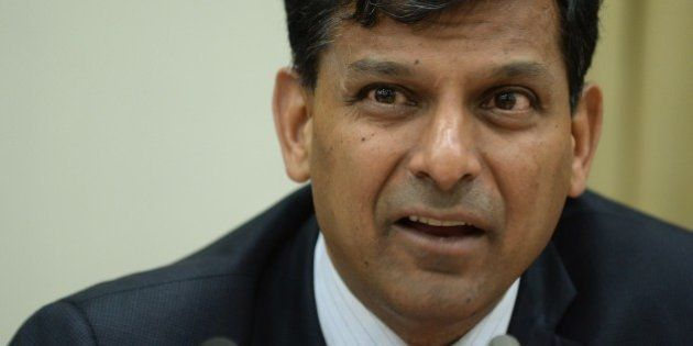Reserve Bank of India (RBI) governor Raghuram Rajan speaks during a news conference at the RBI headquarters...
