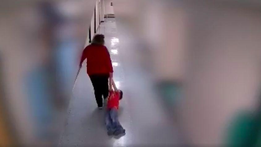 Kentucky teacher seen dragging autistic boy.