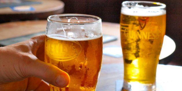 Two pints of Tsing Tao - Smuggler's Inn, Stanley, Hong