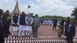 Modi Begins Bangladesh Visit With Homage To