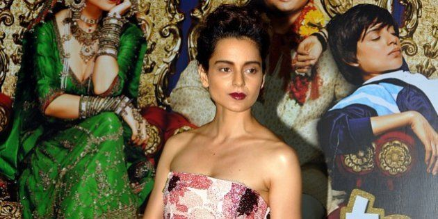 Indian Bollywood actress Kangana Ranaut poses for a photograph during a promotional event for the Hindi...