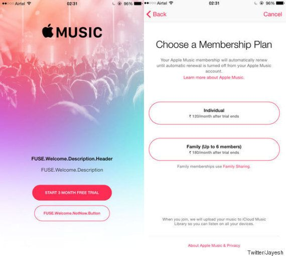 Leaked: Apple Music To Cost Rs 120 Per Month, Rs 180 For Family