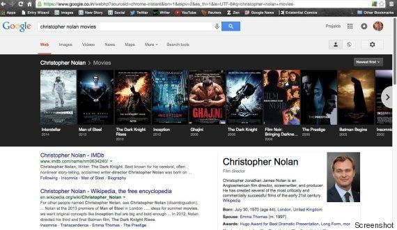 That Awkward Moment Google Thinks 'Ghajini' Is Directed By Christopher