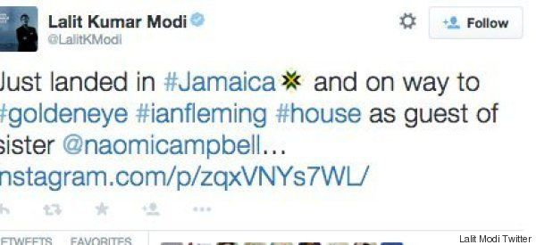 Lalit Modi Has Been Partying With Naomi Campbell And Paris