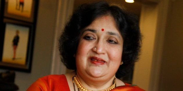 NEW DELHI, INDIA APRIL 29: Indian philanthropist, film producer and playback singer Latha Rajinikanth...