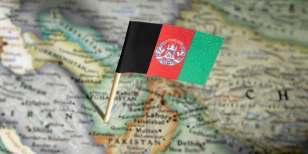 Afghanistan flag in