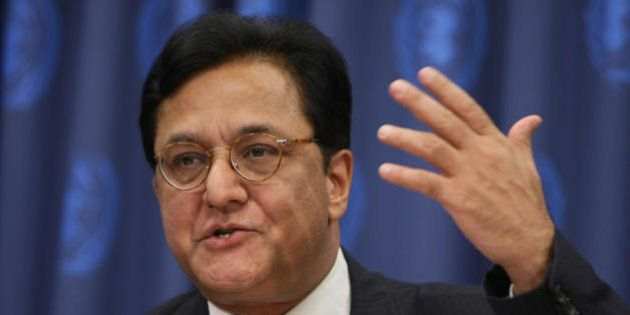 Mr. Rana Kapoor, CEO of the Yes Bank of India, answers questions at a news conference 24 September 2007...