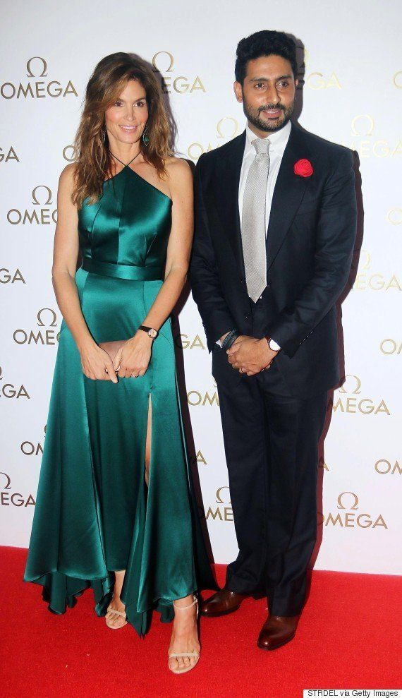 PHOTOS: Abhishek Bachchan Escorts Supermodel Cindy Crawford To Omega Gala In
