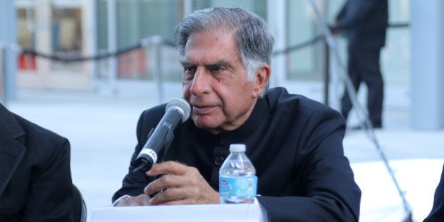 MIAMI BEACH, FL - MAY 15: Ratan Tata speaks during Pritzker Architecture Prize 2015 at New World Symphony...