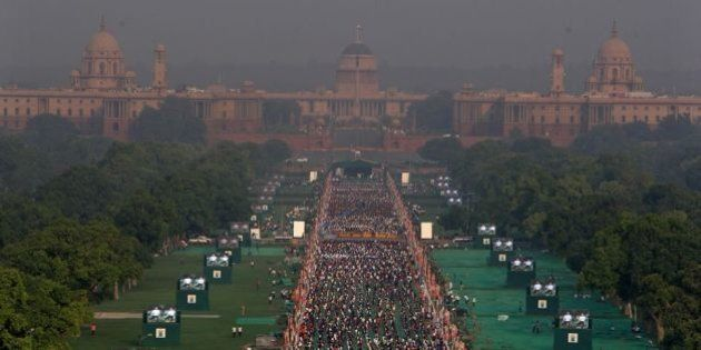 PHOTOS: Yoga Day Preparations In India From Kashmir To