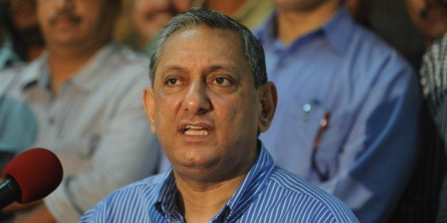 India's Maharashtra state's Anti-Terrorism Squad Chief Rakesh Maria gives a news conference in Mumbai...