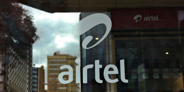 TO GO WITH AFP STORY BY OTTO BAKANOThe logo of giant mobile- telecommunications service provider 'Airtel'...