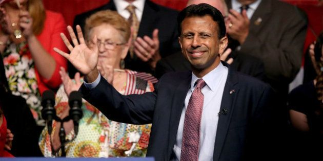 KENNER, LA - JUNE 24: Louisiana Governor Bobby Jindal announces his candidacy for the 2016 Presidential...