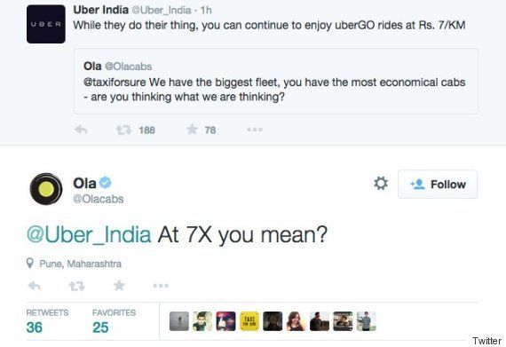 CHUCKLE: Ola Just Trolled Uber Real Bad On