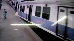 WATCH: CCTV Captures Incredible Moment A Local Train Crashes Into A Mumbai