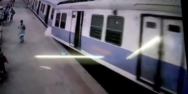 WATCH: CCTV Captures Incredible Moment A Local Train Crashes Into A Mumbai