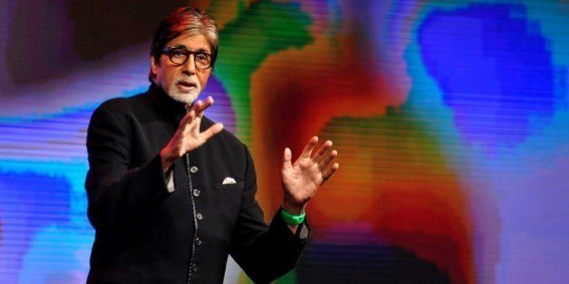 Indian Bollywood actor Amitabh Bachchan speaks during a launch event in Mumbai on June 19, 2015. AFP...
