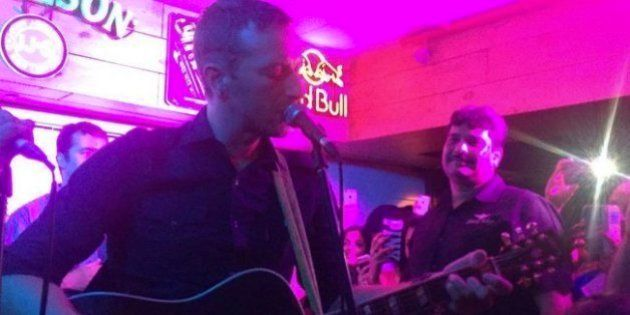 Coldplay's Chris Martin Played A Secret Acoustic Set At A Bar In Delhi