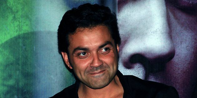 Indian Bollywood actor Bobby Deol poses as he arrives to attend the release of the soundtrack for the...