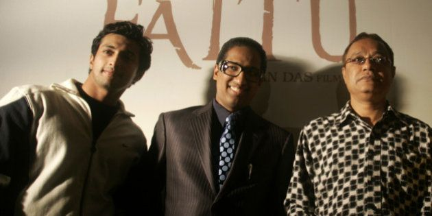 From left to right, actor Yash Pandit, producer Arindam Chaudhuri, director Anjan Das and actress Manjari...