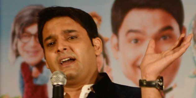 Indian actor Kapil Sharma speaks during a press conference at a hotel in Amritsar on June 8, 2013. The...