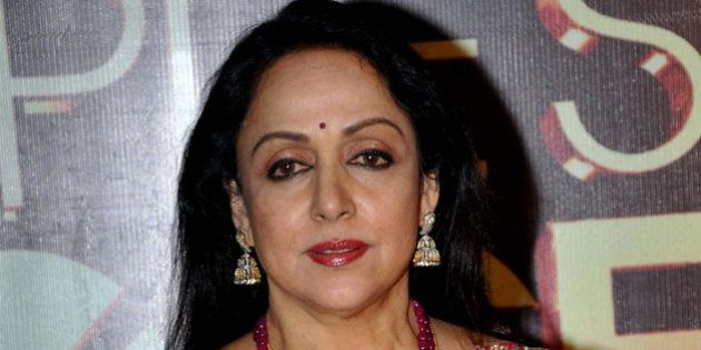 Indian Bollywood actress Hema Malini poses as she attends the 'People's Choice Awards' ceremony...