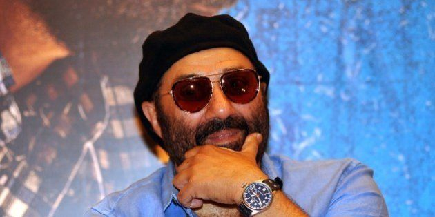 Indian Bollywood actor Sunny Deol looks on during a promotional event for the forthcoming Bollywood film...