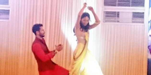 PHOTOS: Shahid Kapoor And Mira Rajput's Filmi Sangeet In
