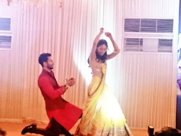 PHOTOS: Shahid Kapoor And Mira Rajput's Filmi Sangeet In