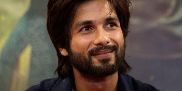 Bollywood actor Shahid Kapoor attends a press conference to promote his upcoming