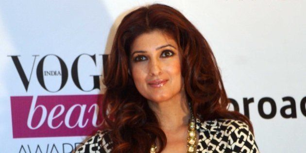 Indian Bollywood actress Twinkle Khanna attends the 2014 Vogue Beauty Awards in Mumbai on July 22, 2014....