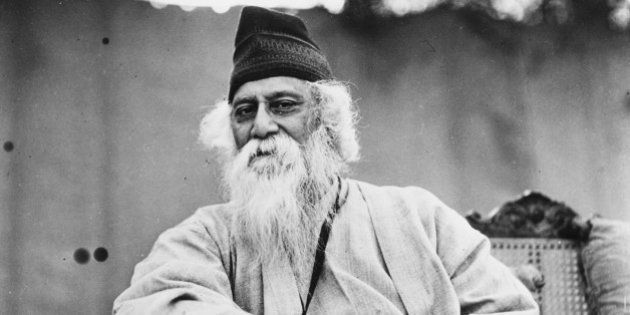 Portrait of Indian author and poet Rabindranath Tagore, circa 1935. (Photo by Fox Photos/Hulton Archive/Getty