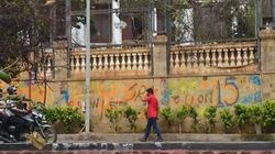 Messing With Mannat: Mystery Fan Paints Graffiti On The Walls Of Shah Rukh Khan's