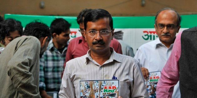 Aam Aadmi Party (AAP),or Common Man Party, chief Arvind Kejriwal releases the party's manifesto ahead...