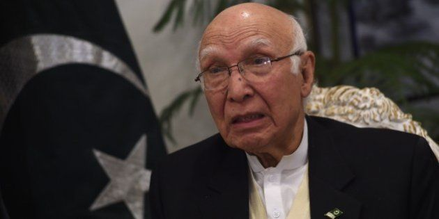 Sartaj Aziz, Pakistani Foreign Affairs and National Security Advisor to Prime Minister Nawaz Sharif,...