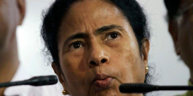 Trinamul Congress Party (TMC), leader Mamata Banerjee addresses a press conference in Kolkata, India,...