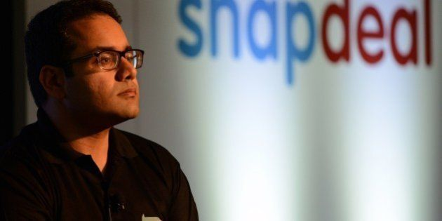 Co-founder and CEO of Snapdeal Kunal Bahl attends a press conference in New Delhi on July 15, 2015. Snapdeal,...