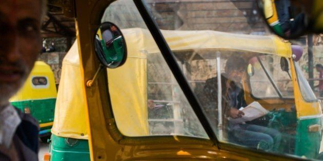 TO GO WITH INDIA-SOCIAL-WOMEN-CRIME-RAPE-ANNIVERSARY, FOCUS BY ABHAYA SRIVASTAVAIndian auto-rickshaw...