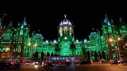Mumbai's Chhatrapati Shivaji Terminus Lit Up With Sparkling Green Lights Ahead Of