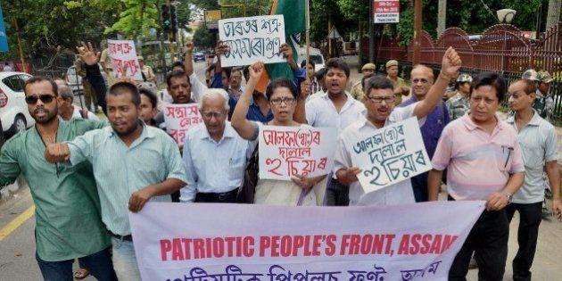 Protest Against ULFA Militants In Assam