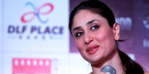 Bollywood actress Kareena Kapoor speaks during a press conference for the promotion of her upcoming