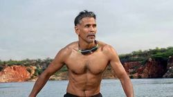 PHOTOS: 50-Year-Old Milind Soman Completes The Tough 'Ironman Triathlon' Under 16