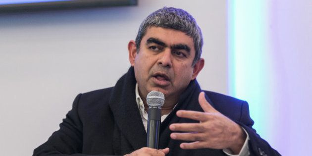 DAVOS/SWITZERLAND, 21JAN15 - Vishal Sikka , Chief Executive Officer and Managing Director, Infosys, India...