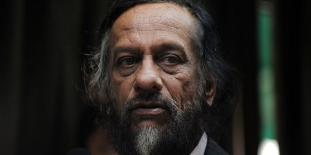 Director General of the Energy and Resources Institute (TERI) R.K. Pachauri addresses mediapersons in...