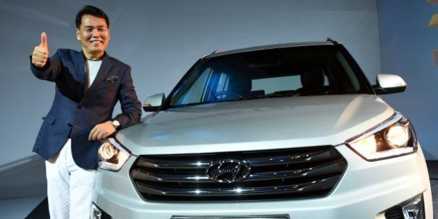 Managing Director and CEO, Hyundai Motors India limited, B S Seo poses during the launch of the Hyundai...