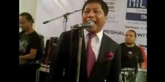This Video Of Meghalaya CM Mukul Sangma Singing 'I Want To Break Free' Is