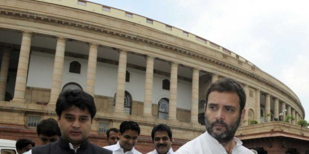 NEW DELHI, INDIA - JULY 28: Congress Vice President and Lok Sabha Member of Parliament, Rahul Gandhi...