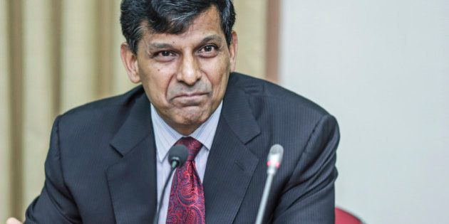 Raghuram Rajan, governor of the Reserve Bank of India (RBI), speaks during a news conference at the central...
