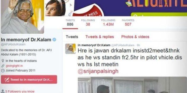 A Week After Kalam's Death, Close Associates Fight Over His Social Media